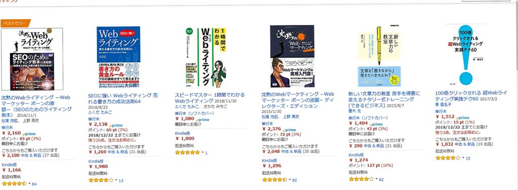 WEBライティングの本のページ